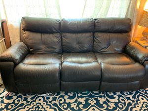 Leather electric couch for Sale in CO, US