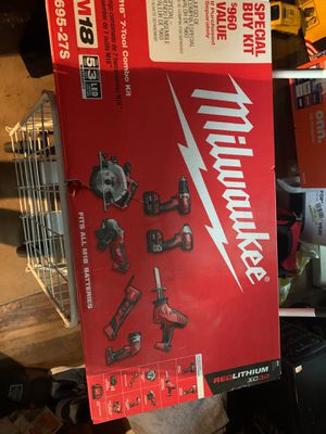 Milwaukee M 18 seven tool combo kit for Sale in Columbus, OH