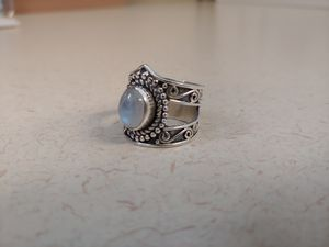 925 Rainbow Moonstone Ring, Size:7.5 for Sale in Kemah, TX