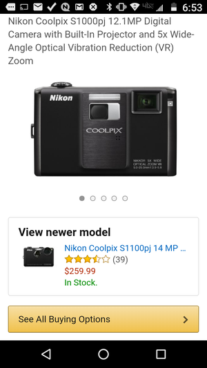 Coolpix Projector-camera 11.4 megapixel 5x zoom for Sale in Tacoma, WA