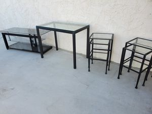 TV Stand, Desk, Stacking Tables for Sale in La Quinta, CA