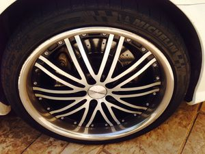 20 inch staggered Vosson rims and tires for Mercedes for Sale in Irving, TX