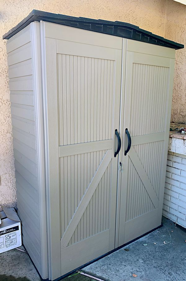 Rubbermaid heavy duty storage sheds double door panels for backyard garage front yard outdoor use