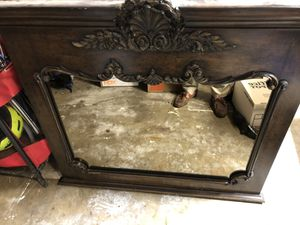 Wall mirror. Carved solid wood frame. for Sale in Huntington Beach, CA