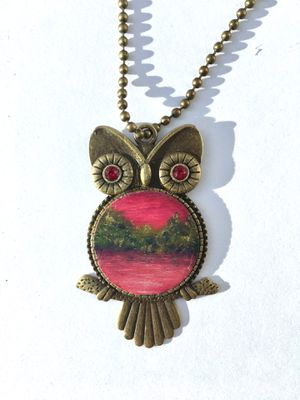 Handmade bronze owl necklace for Sale in Annandale, VA