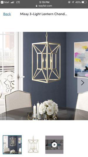 Missy 3 light lantern chandelier for Sale in Arlington, VA