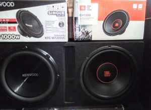 """2-12"""" JBL & KENWOOD SUBWOOFERS for Sale in Monrovia, CA"""