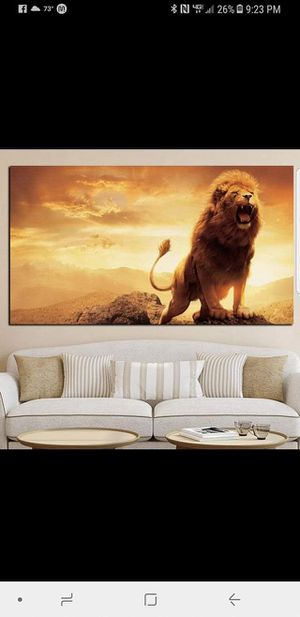 """Lion Framed Canvas 30x60"""" (High Quality) for Sale in Fresno, CA"""