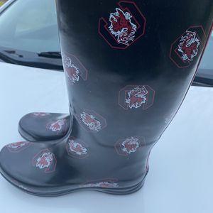 Carolina Gamecocks Rain Boots Women 7 for Sale in Gaston, SC