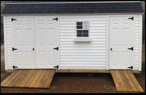 New 10' x 16' White Vinyl Gambrel Shed for Sale in Rehoboth, MA