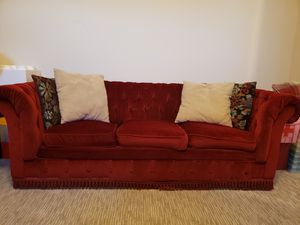 Small red Chesterfield sofa / couch for Sale in San Diego, CA