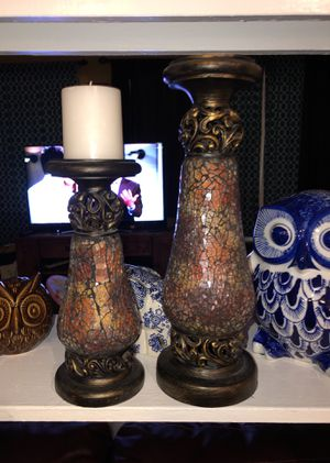 2 mosaic candle holders for Sale in San Antonio, TX