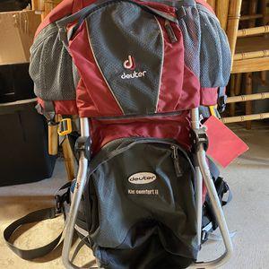 Deuter Kid Comfort 2 Hiking Backpack for Sale in El Dorado Hills, CA