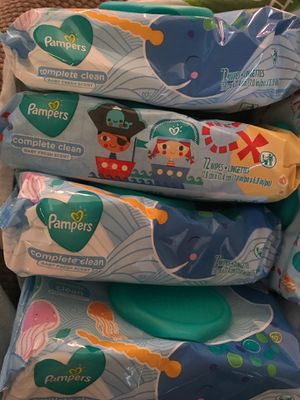 Pampers Baby Wipes Baby Fresh Scent - 72 count for Sale in North Attleborough, MA