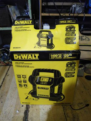 DeWalt 1400 amp jump starter with 120 PSI pump for Sale in Albany, CA