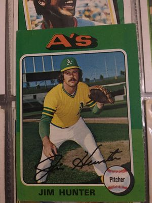 Baseball card Jim Hunter 1975 for Sale in Norwalk, CA