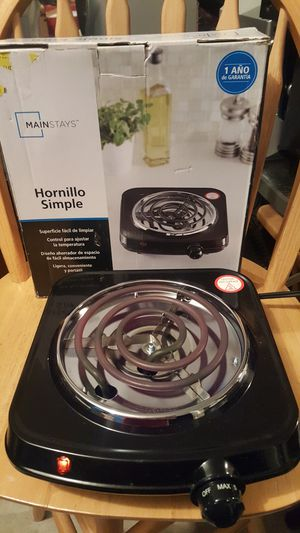 Mainstays Single Burner Electric Hot Plate with Adjustable Temperature Control for Sale in Chesapeake, VA