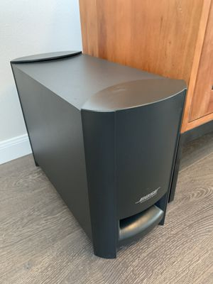 Bose 2.1 Cinemate Series II Digital Home Theater Speaker System Plus Optical Audio Adapter for Sale in Gig Harbor, WA