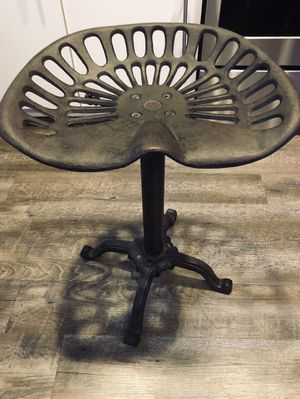 Cast Iron & Metal Mabry Adjustable Tractor Seat Stool for Sale in Washington, DC