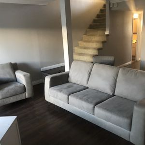 Grey Couch And Chair for Sale in Huntington Beach, CA