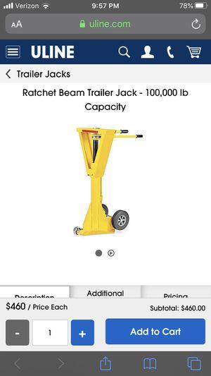 Uline trailer jack for Sale in Silverado, CA