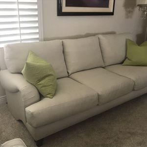 Elegant Linen, Down Filled sofa for Sale in La Mesa, CA