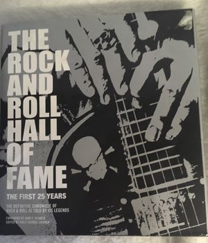 The Rock and Roll Hall of Fame hardcover book with beautiful illustrated photos for Sale in Berwyn, IL