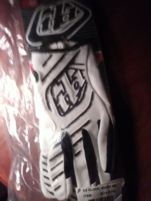 Troylee gloves white background with black lettering for Sale in Tempe, AZ