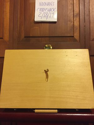 Wooden Golf Box Filled with Golf Items for Sale in Palmer, MA