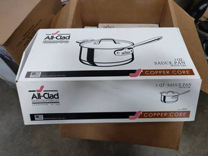 All-Clad #6203 SS 3QT Copper Core 5-ply Sauce Pan for Sale in Upland, CA