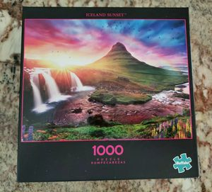 "Buffalo Games ""Iceland Sunset"" 1000 Piece Jigsaw Puzzle - Kirkjufell Mountain for Sale in Ontario, CA"