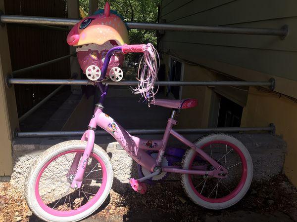 Princess bike. Like New!! With helmet!