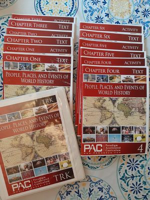 PAC People, Places, and Events of World History 1-6 for Sale in Orange, VA
