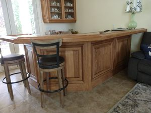 Custom made oak bar by Anderson Woodworking for Sale in Fresno, CA
