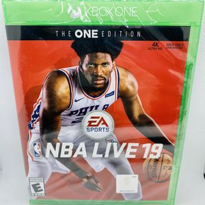 NBA LIVE 19 XBOX ONE Brand New Factory Sealed Basketball for Sale in Puyallup, WA