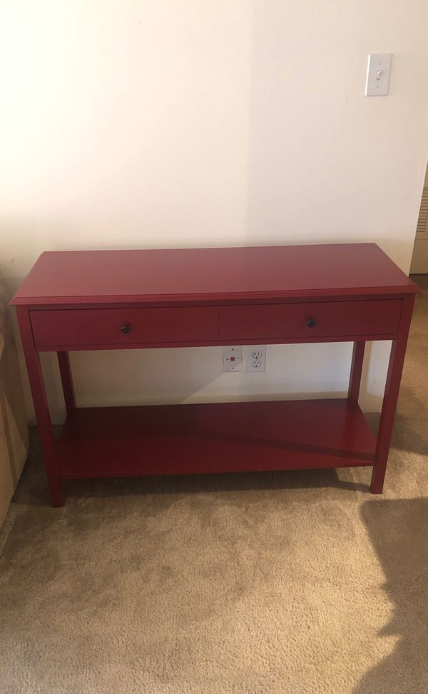 Red Sofa Table