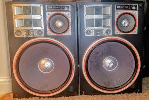 SANSUI SPq and 0-X9 Speakers Speakers are 16inch and 300watts each for Sale in Fresno, CA