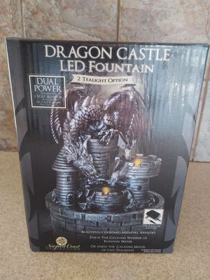 Dragon castle LED fountain and tea lights for Sale in Bothell, WA