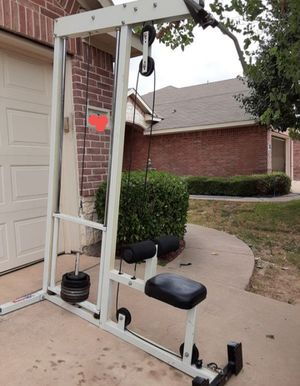 Lat Pull-Down Machine with weights for Sale in Saginaw, TX