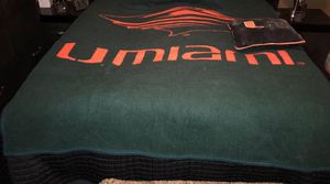 Miami Hurricanes Blanket & Pillow Faux Fur for Sale in Lake Worth, FL