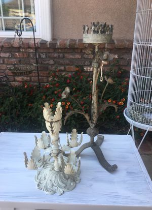 Shabby candle holders for Sale in San Dimas, CA