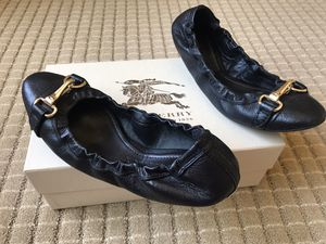 Burberry black leather flat ballet flats for Sale in Hayward, CA