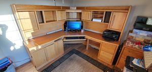 Six piece oak corner desk set for Sale in San Jose, CA