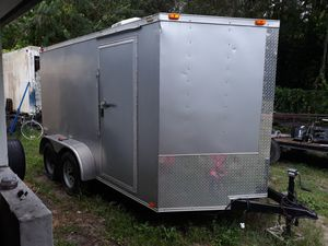 2015 6.5 x12 x 6.5 Enclosed Trailer with electric & A/C for Sale in North Fort Myers, FL