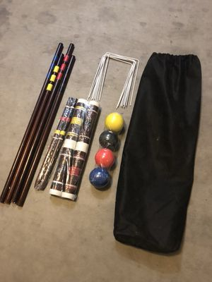 Croquet Set w/carrying bag (4 player) for Sale in Sun City, AZ