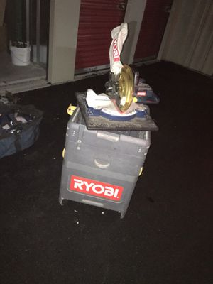 Ryobi chop saw with storage stand for Sale in North Attleborough, MA