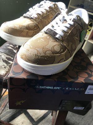 Bape x coach Bapesta size 12 beige for Sale in Los Angeles, CA