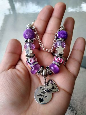 Heart rate Pandora STYLE charm bracelet for Sale in Spring, TX