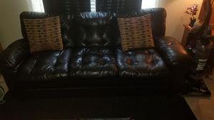 Black Faux Leather Sofa for Sale in Murfreesboro, TN