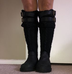 Black Knit Ugg Boots- ladies 9 for Sale in San Diego, CA